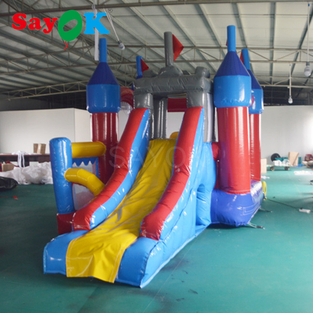 Outdoor inflatable mini bouncer with slide, inflatable castle combo for kids