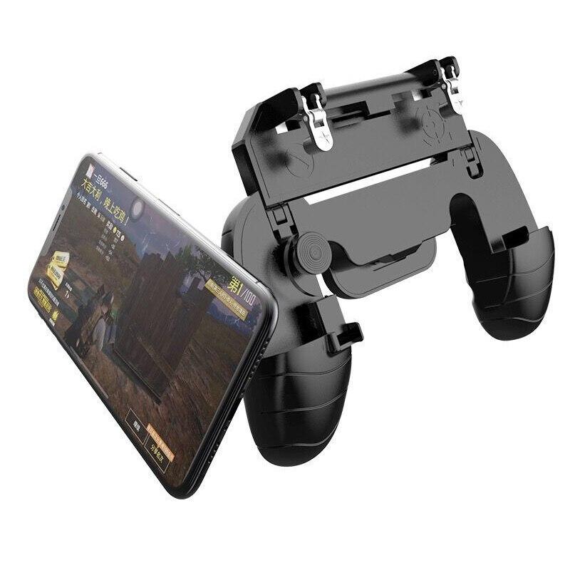 Купить с кэшбэком Foldable Triggers For Cell Phone Dzhostik Shooter Game Pad For Fortnit Fire PUBG Mobile Controller Joystick Max Aim Button L1R1