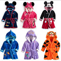 Hot Selling 2017 Spring Autumn Children's Pajamas Robe kids Casual Cute Bathrobes Baby homewear Boys girls Cartoon 3 D Romper
