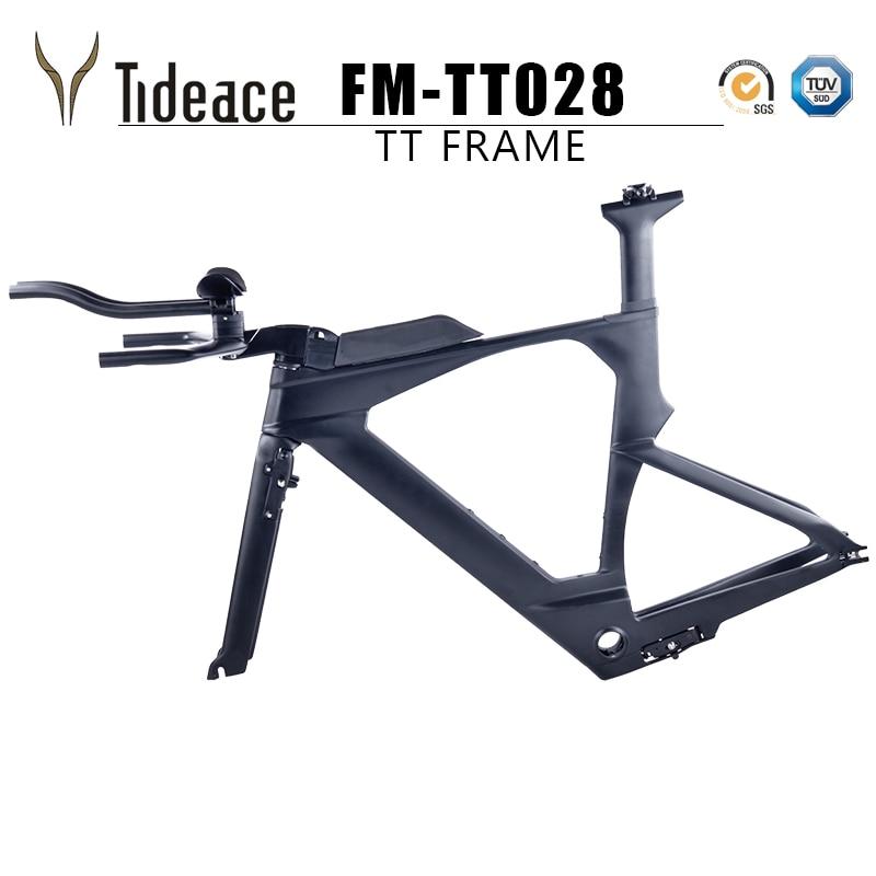 2018 NEW Di2 Carbon Time Trial Triathlon Frame 700c Light Carbon TT Bike Frame Carbon TT Frameset With Free Brake Clipers