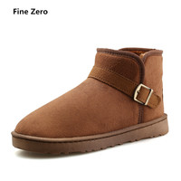Fine Zero Unisex Winter Snow Boots Brand Ankle Rubber Boots Fashion Female Winter Shoes Cheap Women