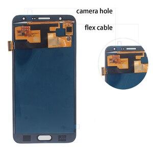 Image 2 - Amoled para samsung galaxy j7 2015 j700 j700f j700h display lcd de toque digitador da tela substituição para galaxy j7 2015 peças telefone