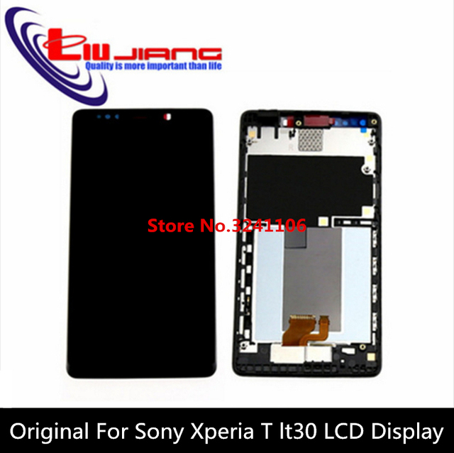 XIANHUAN 100% Original For Sony for Xperia T LT30 LT30a  , Touch Glass Screen lcd Display assembly with Frame + free shipping