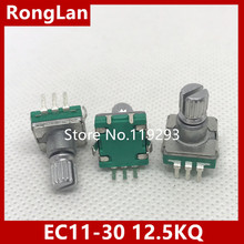 [BELLA]Taiwan produced 360  rotary pulse encoder coding switch potentiometer EC11-30 -bit audio car switch 11.5KQ–100PCS/LOT