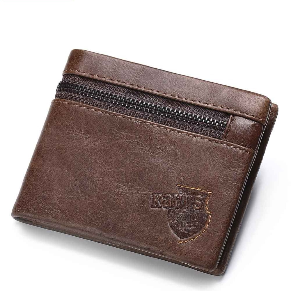 Male Wallet Cards-Holder Coin-Purse Money-Bag Genuine-Leather Men for Credit Man Cuero