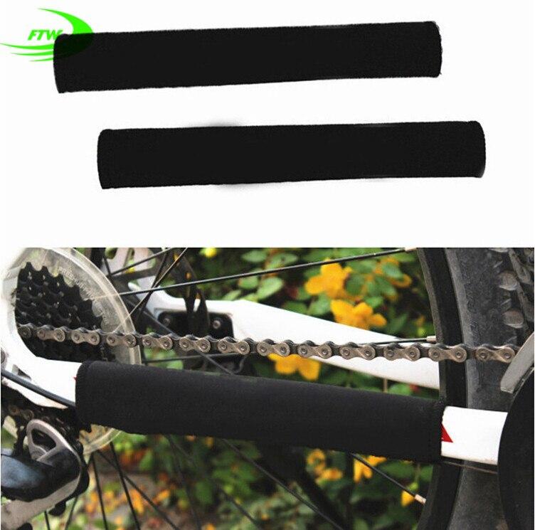 Spor ve Eğlence'ten Bisiklet Zinciri'de Marka Dayanıklı Bisiklet Zinciri Kalmak Chainstay Bisiklet Bisiklet Koruyucu çerçeve Siyah Koruyucu SM3004