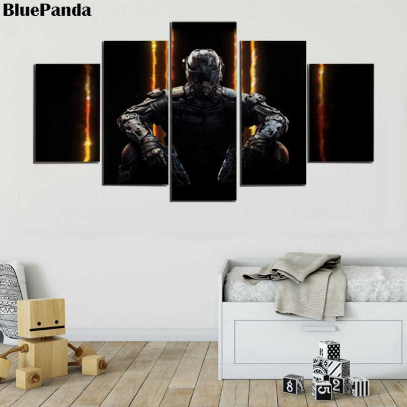 Call Duty Warfare Gaming 5 Pieces Wall Art Poster Modern Canvas Paintings Oil Pictures For Living Room Bedroon Home Decor