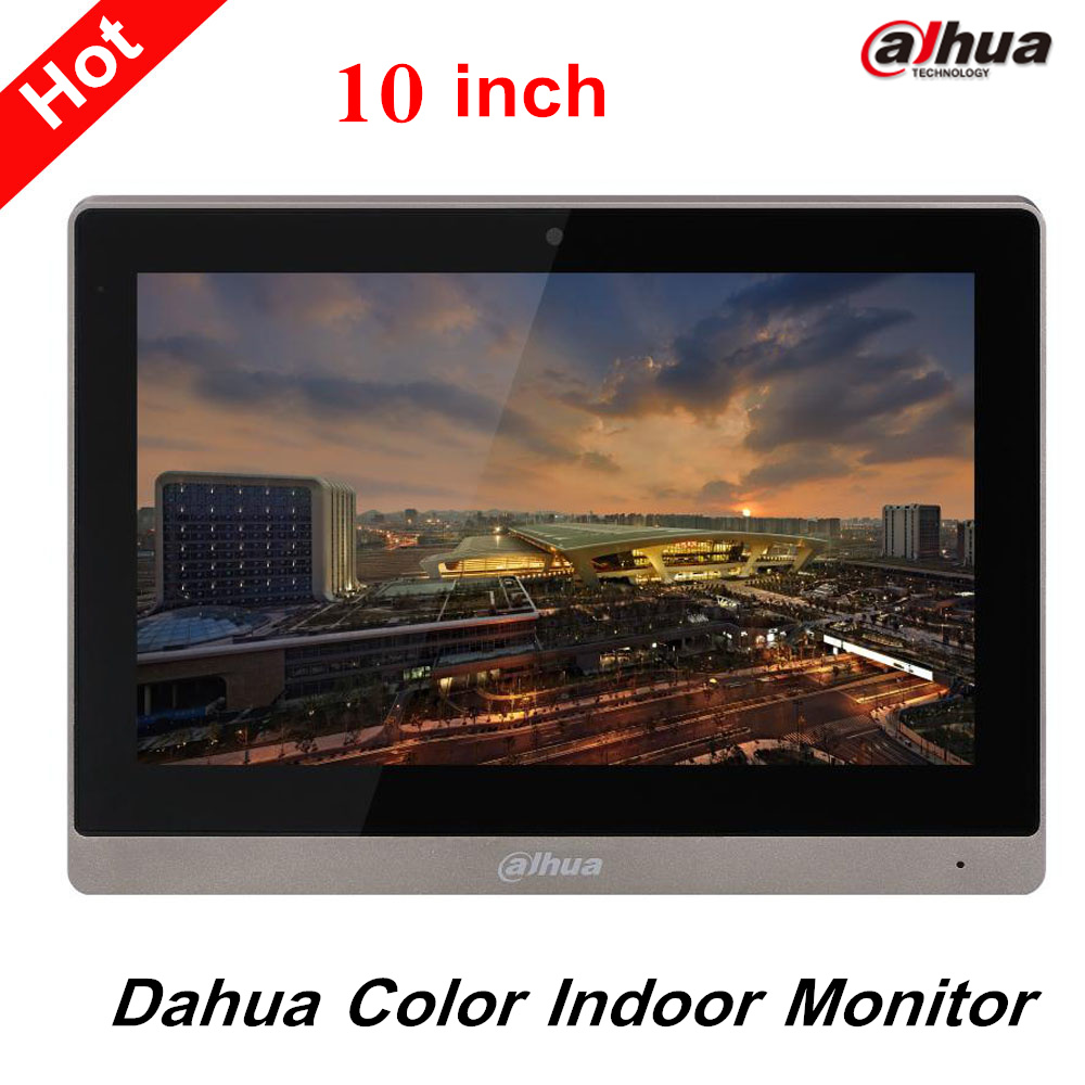 Dahua 10 inches Color Indoor Monitor Original English Version Support SD Card and leave audio/video message VTH1660CH 10pcs lot it8517e hxa hxs cxs etc please leave a message need to specify the version otherwise will randomly send