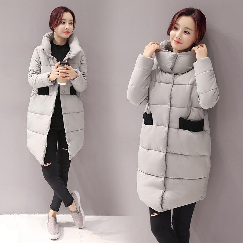 Kadın Sıcak Ceket Moda Kış Aşağı Pamuk Coat Gevşek Uzun Kadın Pamuk-Yastıklı ceket Kadın Coat Dış Giyim Kadın Giyim Parkas