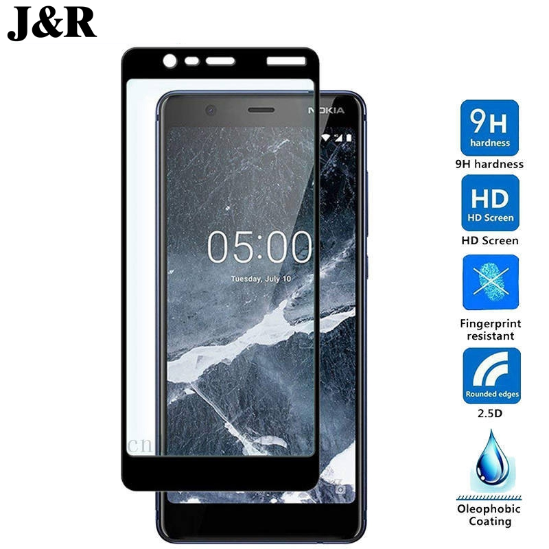 For <font><b>Nokia</b></font> <font><b>5.1</b></font> Tempered Glass For <font><b>Nokia</b></font> <font><b>5.1</b></font> Glass 9H Full Cover <font><b>Screen</b></font> <font><b>Protector</b></font> for <font><b>Nokia</b></font> <font><b>5.1</b></font> 2018 Protective Glass Film image