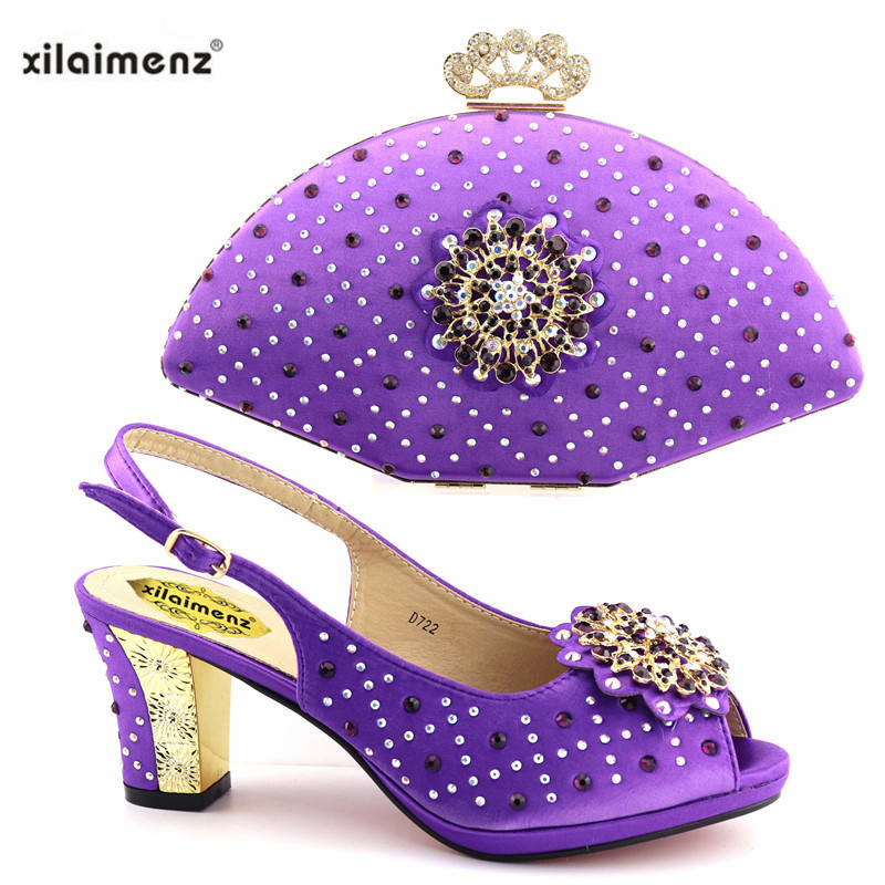 Africana Con Tacones green Conjuntos Italiano Encuentro Y Fiesta En Bolsa Calidad A Bolsos fuchsia Picture De As Zapatos Zapato Real purple pink Alta 6ygazqS