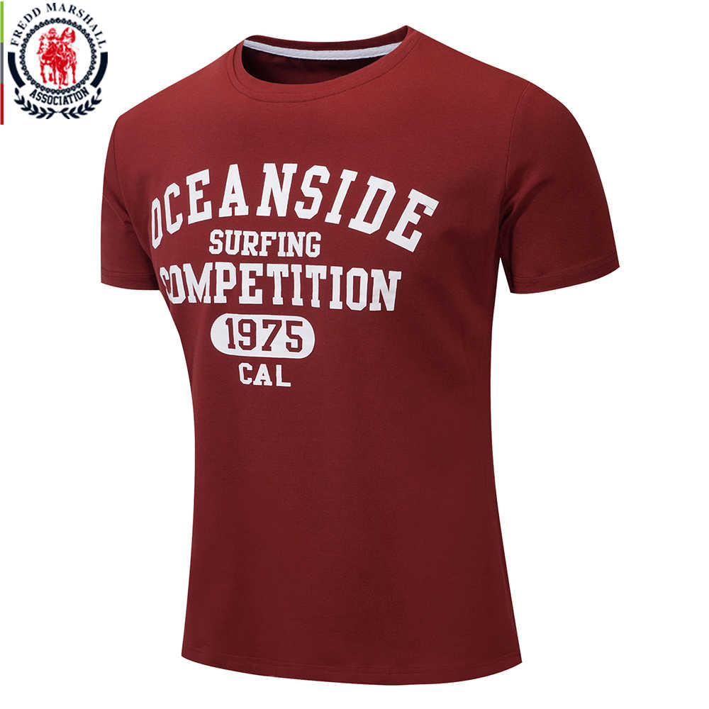 FREDD MARSHALL 2018 Summer New Fashion 100% Cotton Casual Men's T-shirt Short Sleeve Print T Shirt Male Soft Tops Brand Clothing