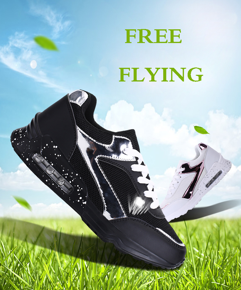 Air Mesh Women Casual Shoes Fashion Lace Up Shallow Shoes Woman Flat Heel Sport Trainers Size 35-40 Quality Walking Shoes ZD30 (2)