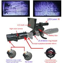 2018 ציד חיצוני אביזרים ציד טקטי דיגיטלי LED לייזר אינפרא אדום ציד אופטיקה ראיית לילה השימוש riflescope
