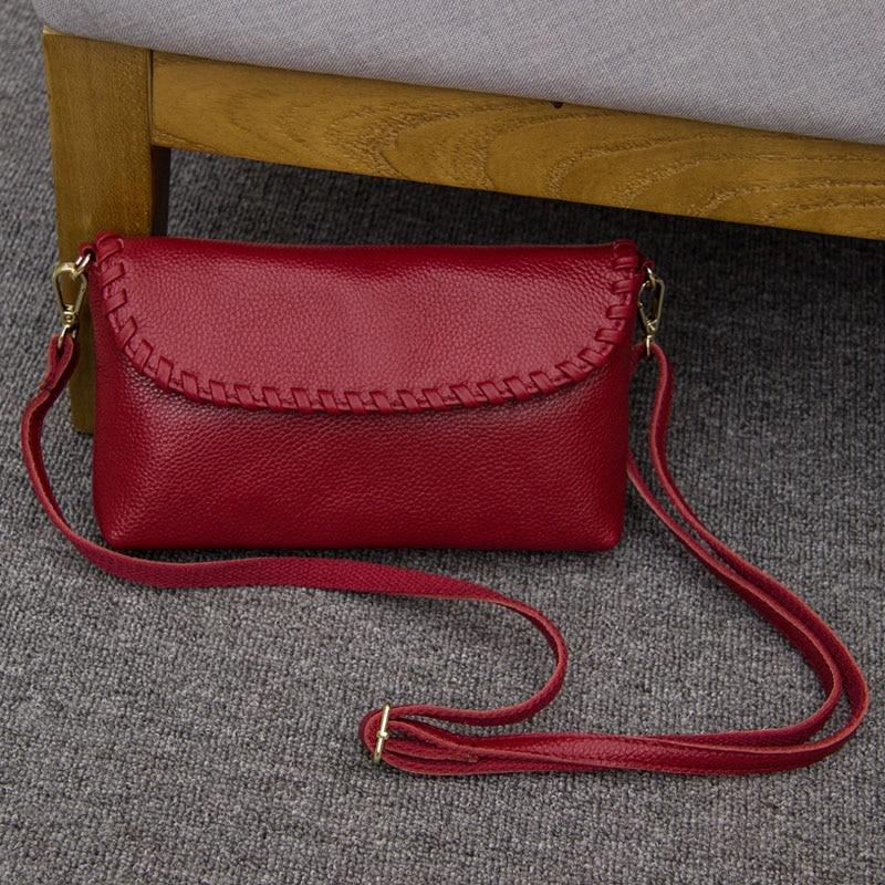 Винтаж натуральный Пояса из натуральной кожи Для женщин Сумки модные Малый Посланник Сумка летняя Повседневное сумка Сумки