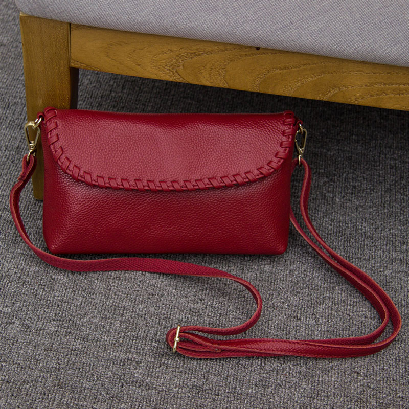 Vintage Natural Genuine Leather Women Bags Fashion Small messenger Shoulder Bag Summer Casual Crossbody Bag Handbags