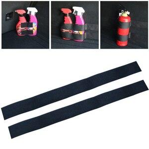 Universal Automotive Car Sticker Decals Styling Car Tail Box Fire Extinguisher Fixing Belt Storage Velcro Strip Auto Accessories