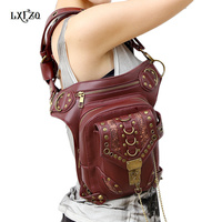 waist bag women Steam punk Multi purpose Protected Purse Shoulder carteras mujer Motor leg bag belt bag men package Outlaw Pack