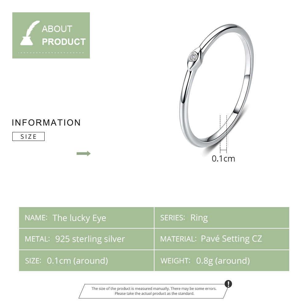 WOSTU 100% เงินแท้ 925 แฟชั่นงานแต่งงานแหวนนิ้วมือซ้อนทับได้แหวน Zircon สำหรับผู้หญิงเครื่องประดับ CQR556