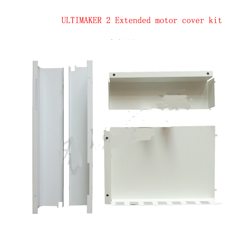 Ultimaker 2 Extended 3d printer parts DIY white color 400mm L motor cover,electric cover and controller cover metal full kit diy ultimaker 2 extended 3d printer diy full kit 1 75mm metal extruder not assemble single nozzle um2 extended 3d printer