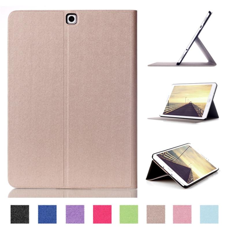 Tab 2 S 9.7 Caso Astuto Della Copertura di Tocco Serie Tripla Pieghevole di Vibrazione PU Custodia In Pelle Per Samsung Galaxy Tab S2 9.7 T810 T815 Tablet PC