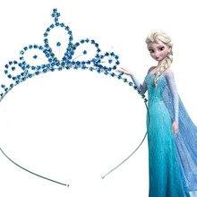 Эльза Корона рождественские подарки для Обувь для девочек принцесса Анна Корона Обувь для девочек Женские аксессуары для волос дети тиара Косплэй как праздник подарки на день рождения