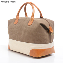 AUTEUIL PARIS Famous Brand Women Handbag Female Canvas Luggage New Vintage Women Bags Ladies Tote Large Sac a Main Bolsos Muje(China)