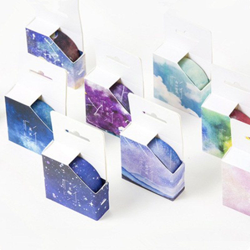 Fantastic Star Rainbow Washi Tape Masking Tape Washi Tape Stationery Diary DIY Decoration Scrapbooking Stickers School Supplies