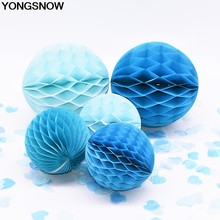 5Pc 2/4/6/8'' Honeycomb Ball Paper Flower Lantern For Wedding Birthday Party Tissue Paper Honeycomb Balls Baby Shower Xmas Decor(China)