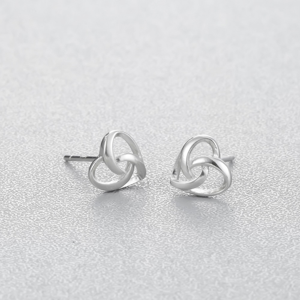 Chereda Sltering Cross Line Weaving Heart Representative Forever Love Jewelry Fashion Hollow Earring For Women Girls in Stud Earrings from Jewelry Accessories