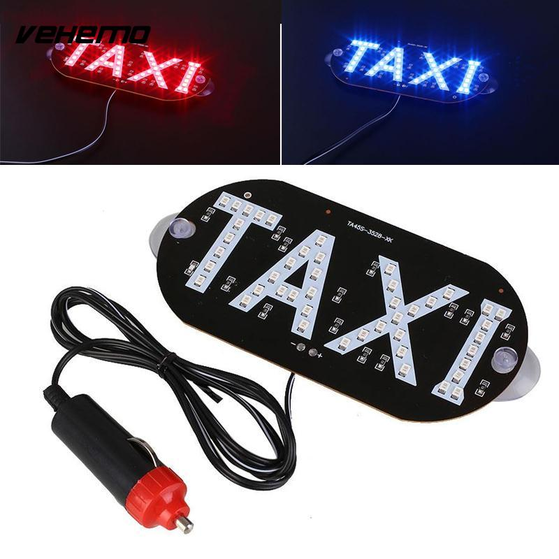 Vehemo Newest Taxi Led Windscreen Cab Lamp Sign Blue LED Windshield Taxi Light Lamp