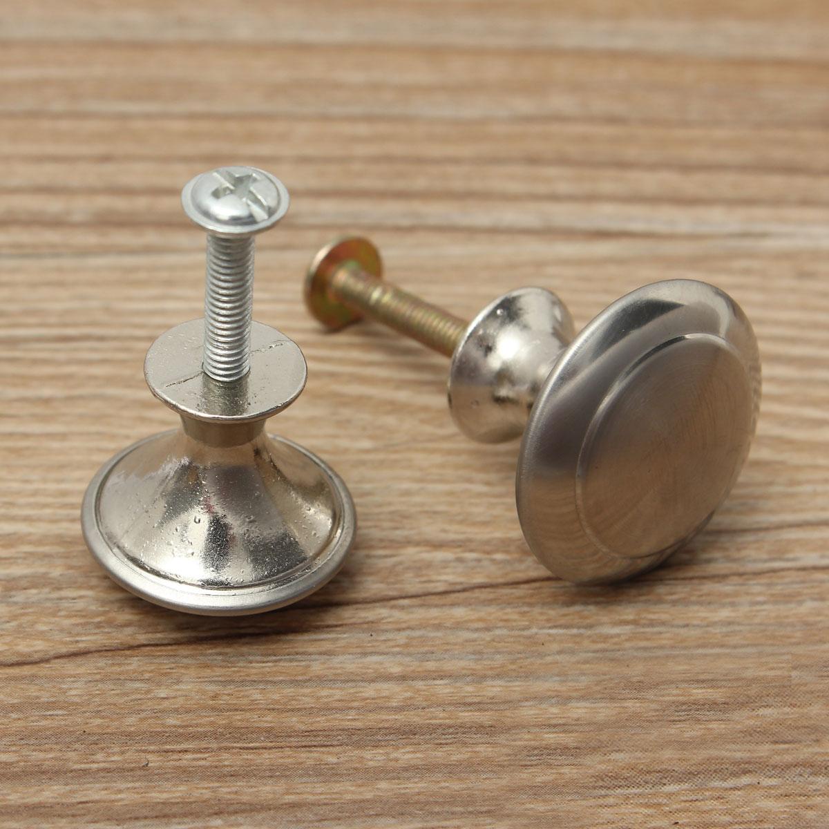 """30 Satin Nickel Kitchen Cabinet Wire Pulls Handles Drawer Hardware 4/"""" 60 Screws"""