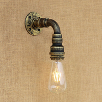 Vintage Loft Water pipe wall lamp Industrial metal rust vintage 4 colors light for living room bedroom restaurant bar 220v E27