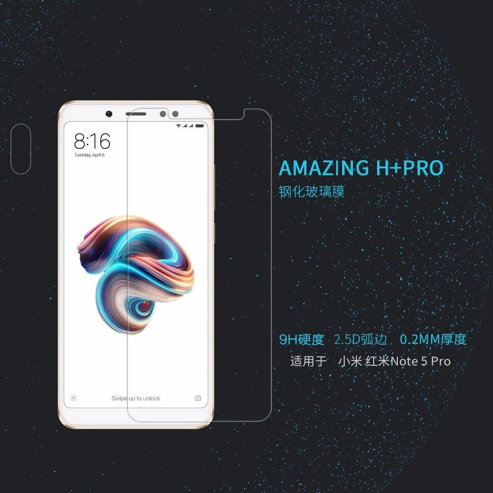 Xiaomi redmi note 5 pro En Verre Trempé Écran Protecteur NILLKIN Incroyable H + PRO Nanomètre Anti-Explosion 2.5D 0.2mm Verre Film
