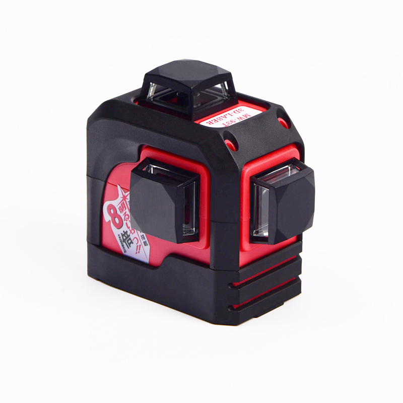 Fukuda, MW-93T 3D 12 líneas nivel láser, nivel láser rojo, autonivelante 360 Horizontal, vertical Cruz Super potente