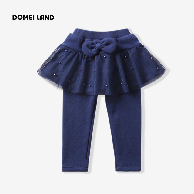 2017 new brand Spring Children Clothing for Cute girl navy ruffles Skirts Ball Gown kids Tutu cotton print legging Skirt