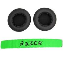 החלפת אוזן רפידות כרית Earpads מחממי אוזני עם סרט עבור להרוס Kraken Pro 7.1 או אלקטרה משחקי אוזניות