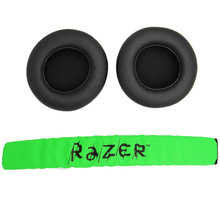 Replacement Ear pads Cushion Earmuffs Earpads with Headband For Raze Kraken Pro 7.1 or Electra Gaming Headphone