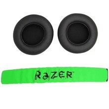 Coussinets d'oreille de remplacement avec bandeau, pour Raze Kraken Pro 7.1 ou casque de jeu Electra