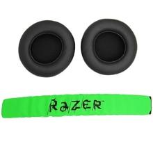 Wymienne nauszniki nauszne nauszniki nauszne z pałąkiem na głowę dla Raze Kraken Pro 7.1 lub Electra Gaming Headphone