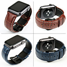 New genuine leather watch strap brown men watchband watch accessories for iwatch series 3/2/1 Apple Watch bands 42mm 38mm