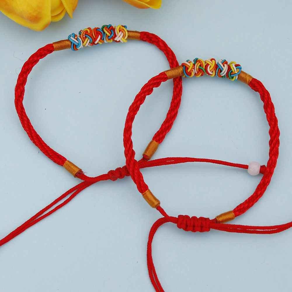 1 Pc אדום מחרוזת חוט מתכוונן צמיד הסיני מזרחי מזל תכשיטי מאהב זוג מתנה יוניסקס לגבר נשים קסם צמיד