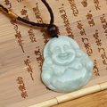 Quality A Natural Light Green Real Jadeite Carved Buddha Jade pendant Lucky Amulet Green pendants necklace fashion Jewelry