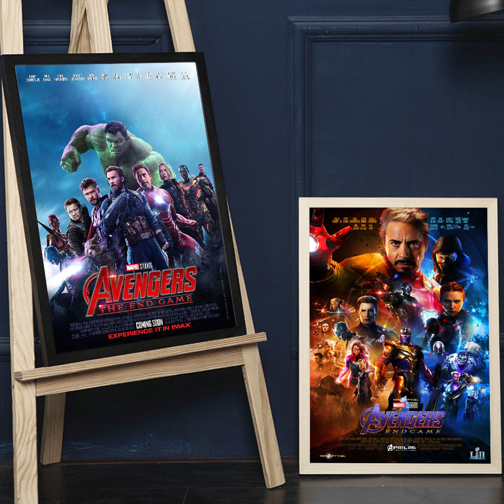 The Avengers 4 End Game Movie Art Canvas Art Print