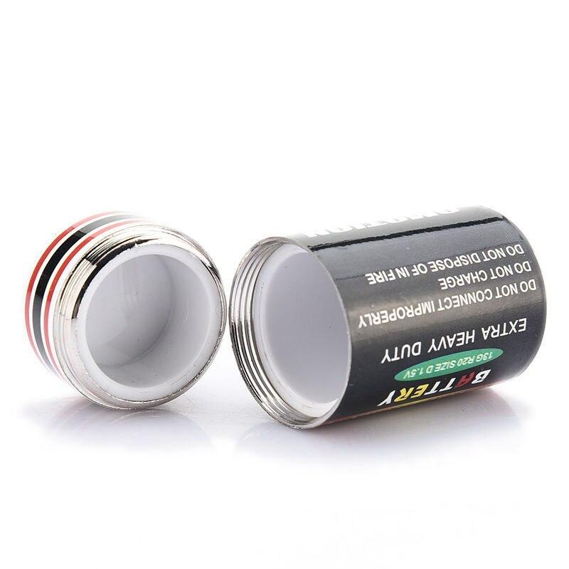 1PCS Creative Hidden Money Coins Container Case Pill Box Battery Storage Boxes Battery Secret Stash Diversion Safe 2style
