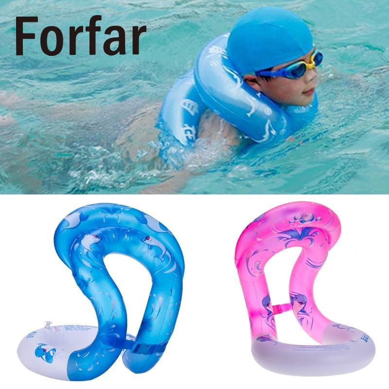 Forfar Dual Airbags Swim Ring Inflatable Swimming Pool Float Toys For Children Adult Pool Float