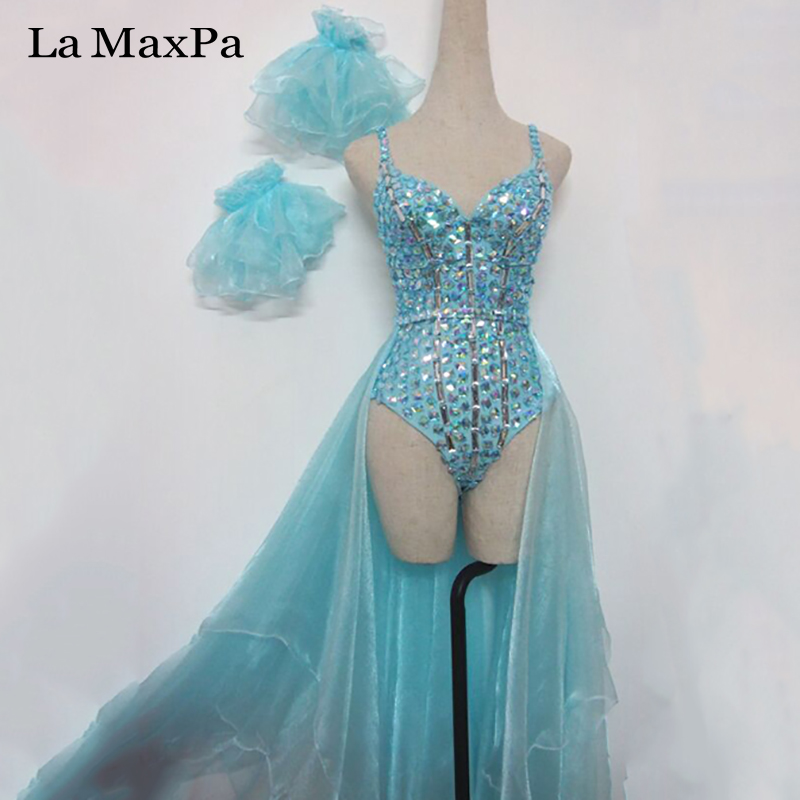 100% Quality La Maxpa Female Singer Costume Women Stage Costume Singers Nightclub Dj Ds Sexy Tuxedo Suit Performance Dance Custom Made Xx004
