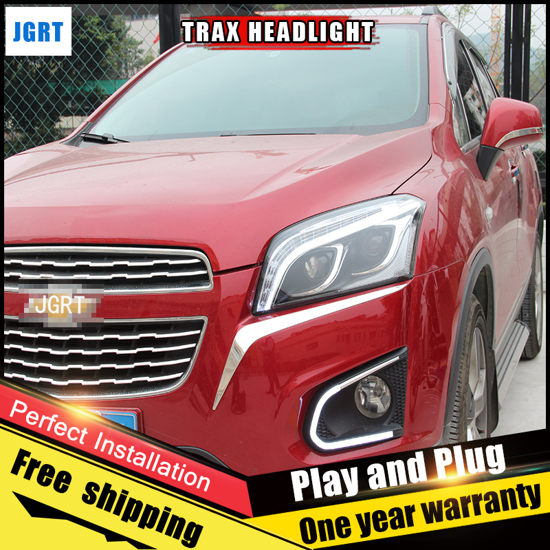 2PCS Car Style LED headlights for Chevrolet Trax 13-16 for Trax head lamp LED Lens Double Beam H7 HID Xenon bi xenon lens hireno headlamp for mercedes benz w163 ml320 ml280 ml350 ml430 headlight assembly led drl angel lens double beam hid xenon 2pcs