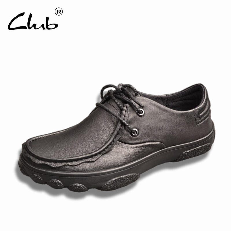 Club Mens Casual Slip On Shoes Comfortable Breathable Cow Leather Lace-up Men Flat Shoes Moccasins Men Loafers Designer Shoes men casual shoes lace up mesh men outdoor comfortable shoes patchwork flat with breathable mountain shoes 259