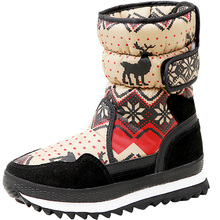 Women Winter Christmas Deer Brand Fashion Style Antiskid Snow Boots